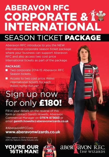 Aberavon Corporate Season Ticket