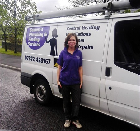 Gemma Barrett set up Gemma's Plumbing and Heating Services with the support of Neath Port Talbot Council's Enterprise Club