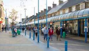 View of Station Rd shoppers