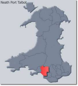 Neath Port Talbot's Location within Wales